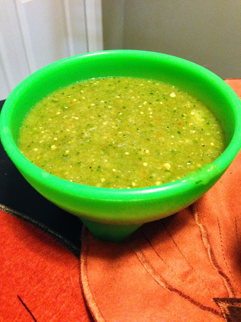 Tomatillo Salsa perfect for Taco Tuesdays or any kind of party #dreamsmorerealthanreality
