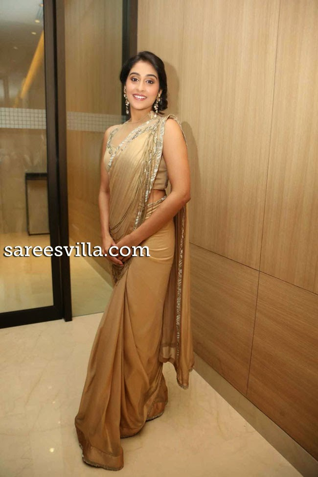 Actress Regina Cassandra In Saree