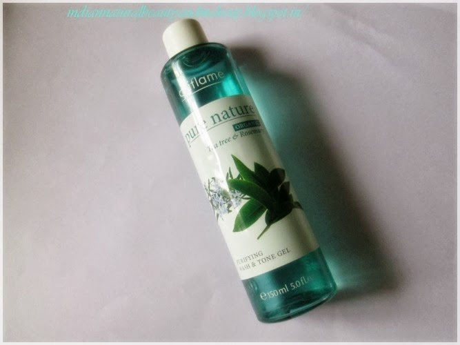 Oriflame Pure Nature Organic Tea Tree & Rosemary Purifying Wash & Tone Gel Review: