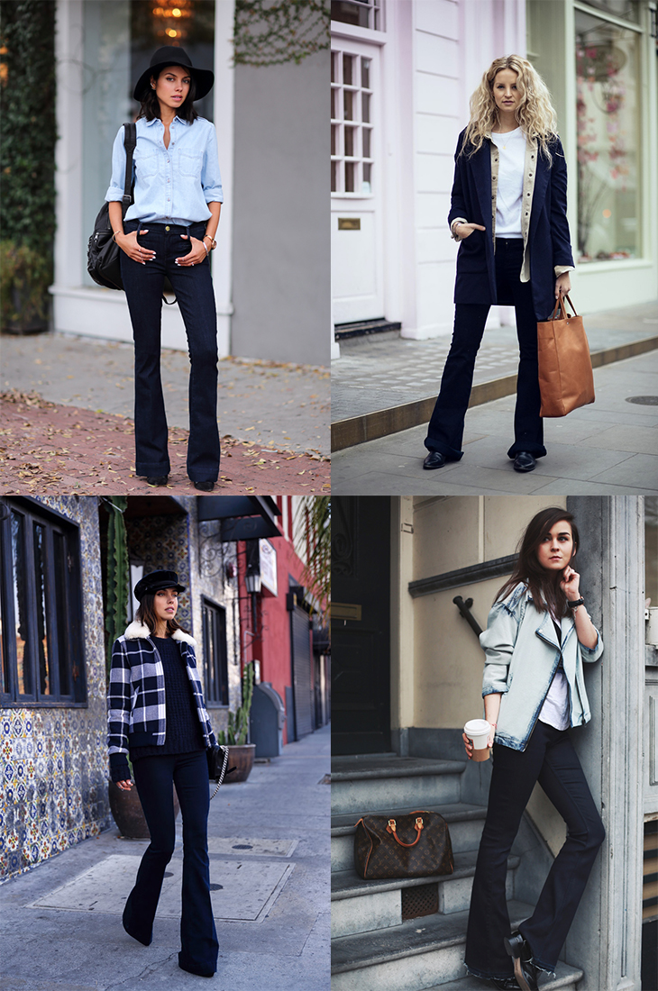 Fashion Attacks inspiration bloggers flared jeans