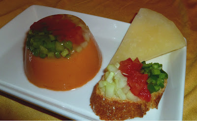 Gelatina de gazpacho