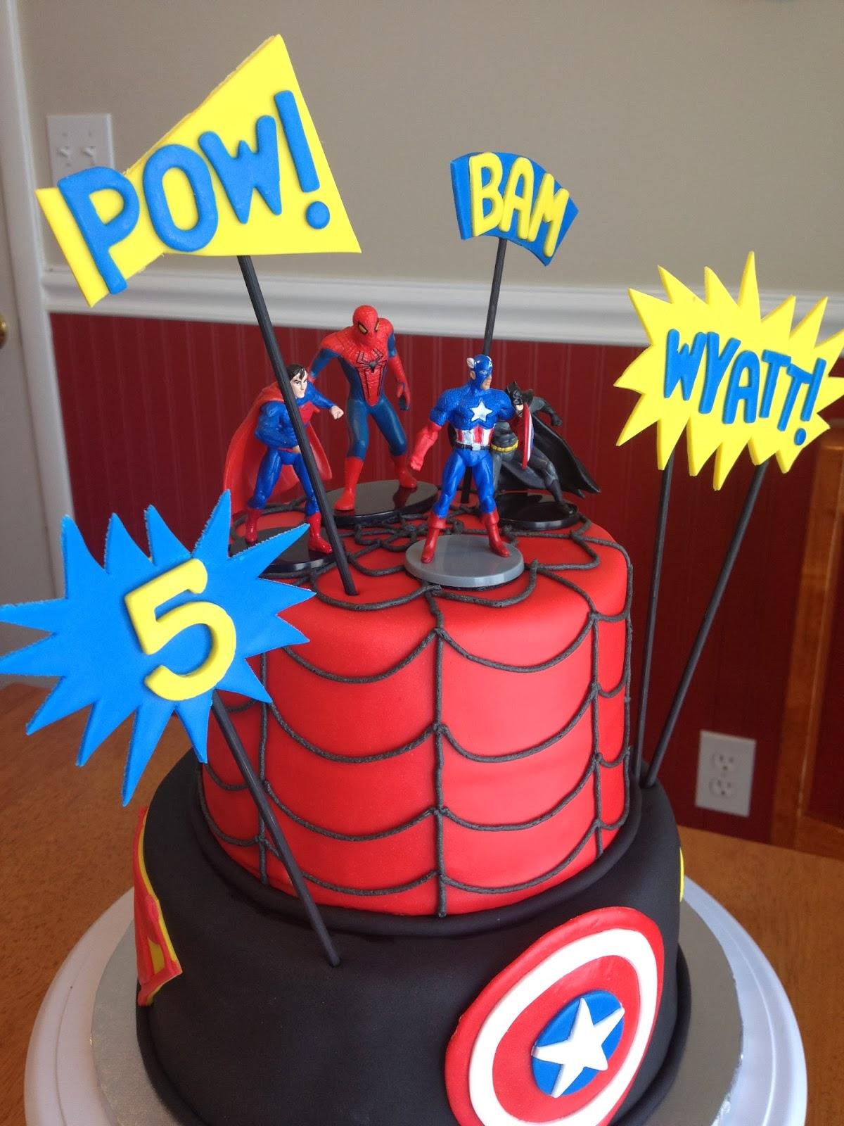 Super Heroes Cake Atlanta Braves Cheer