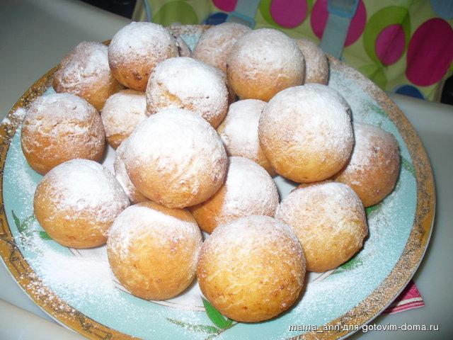творожные пончики с дыркой рецепт