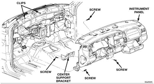 1997 dakota  durango heater core replacement