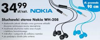 Słuchawki stereo Nokia WH-208 Biedronka ulotka