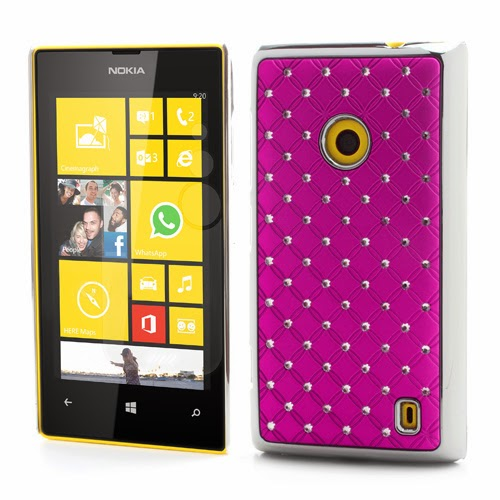 Bling Diamond Starry Sky Plated Hard Case for Nokia Lumia 520 525 - Rose