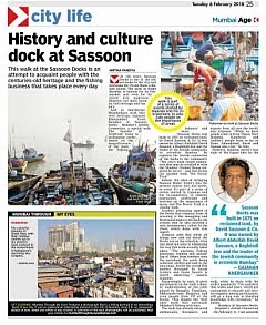 In The News - Sundays At Sassoon Docks featured in The Asian Age