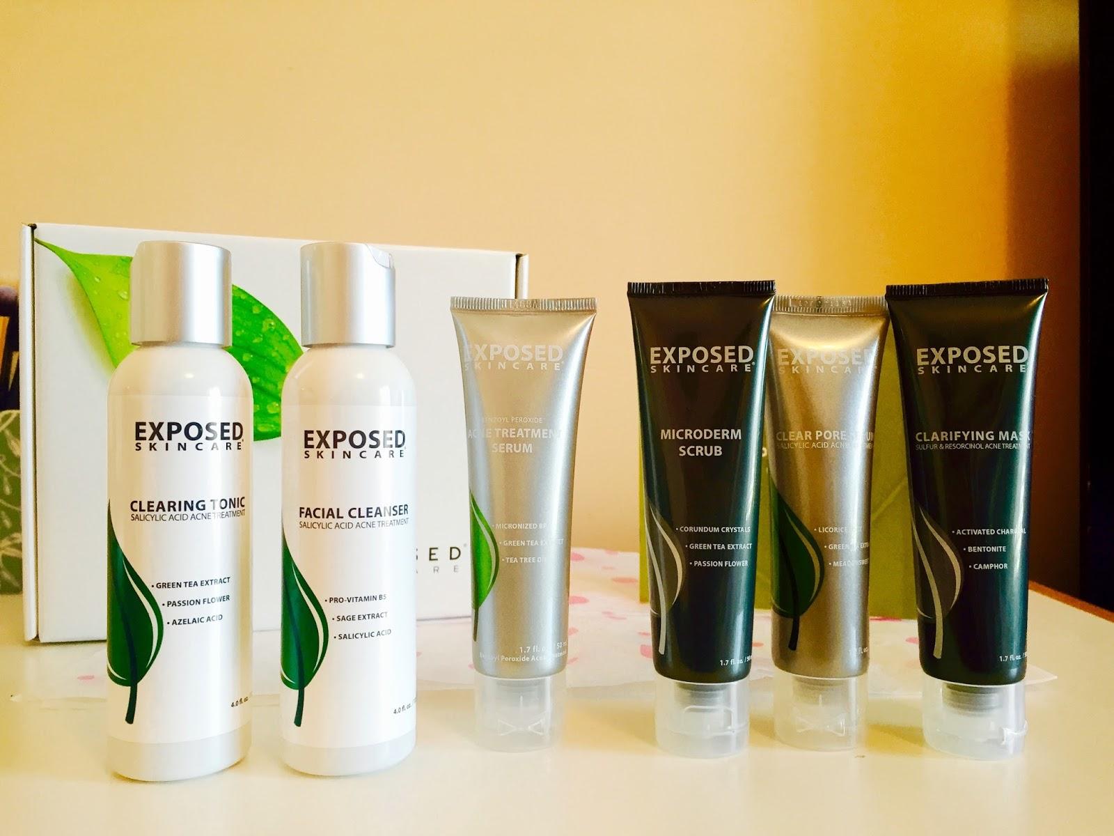 exposed skincare, acne treatment, exposed skincare review, acne treatment review, products, product reviews, skin care treatment,