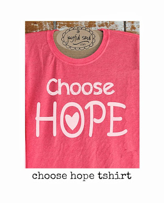 Choose Hope screenprinted t-shirt by A Joyful Soul.com - $18