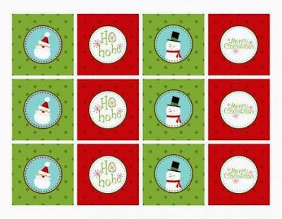 Sweet Santa and Snowman Free Printable Mini Kit.