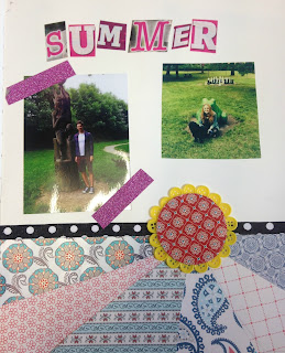 Summer Photo Scrapbook Page