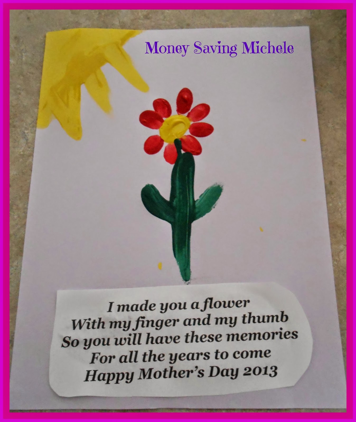 Ever after my way mothers day handprints and footprints for Mothers day painting crafts
