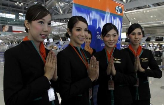 Aeromoças transexuais na Tailândia