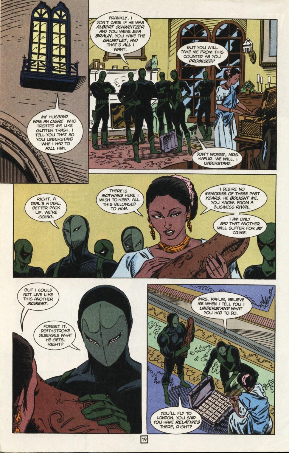 Deathstroke (1991) Issue #31 #36 - English 20
