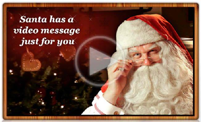 free online video message from santa to children