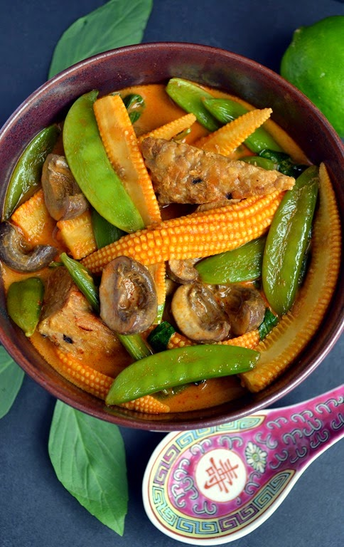 Vegan Recipe - Thai Tempeh & Vegetable Red Curry