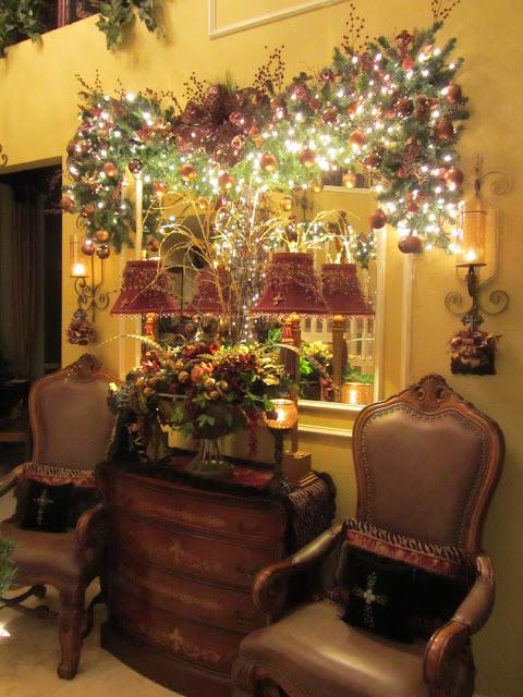Embellishments by slr christmas foyer table