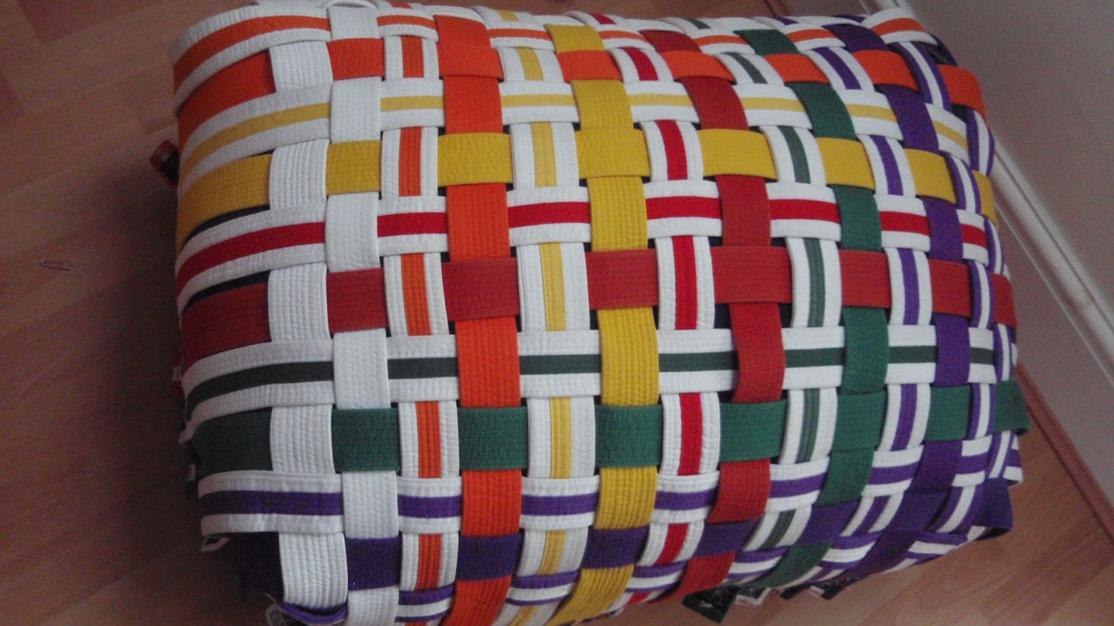 Karate belt display ideas - For This Assignment I Wanted To Make Use Of My Children S Karate Belts My Ideas Ranged From A Wall Hanging A Folding Chair A Waistcoat To Finally A Low