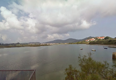 Vista desde la carretera de entrada a Santoña