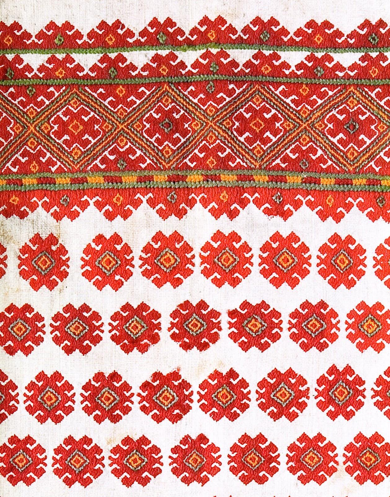 Folkcostume embroidery nyzynka of western ukraine