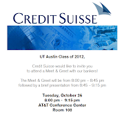 For those of you interested in Investment Banking, Credit Suisse is having .