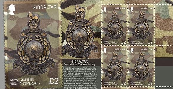 Gibraltar: NEW Royal Marines 350th Anniversary