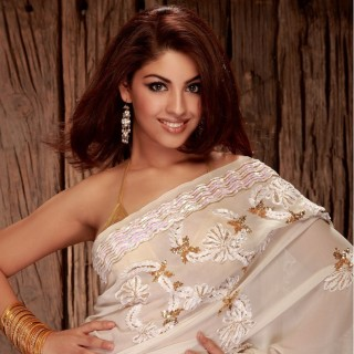 Actress Richa Gangopadhyay Sari Stills