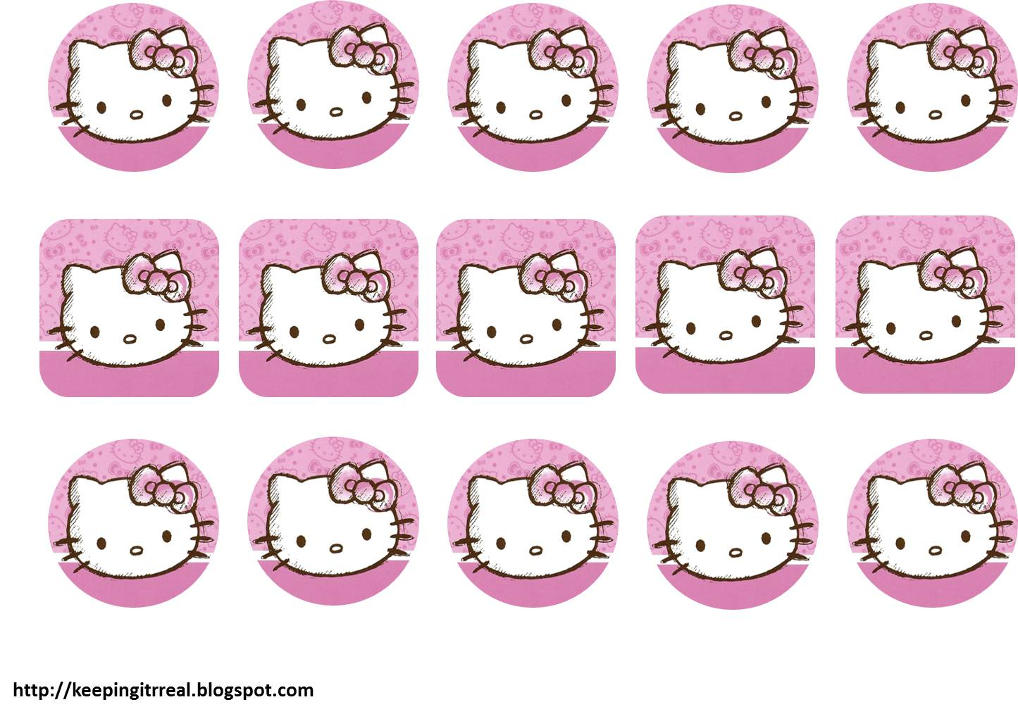 hello kitty party pack printables keeping it real bottle labels