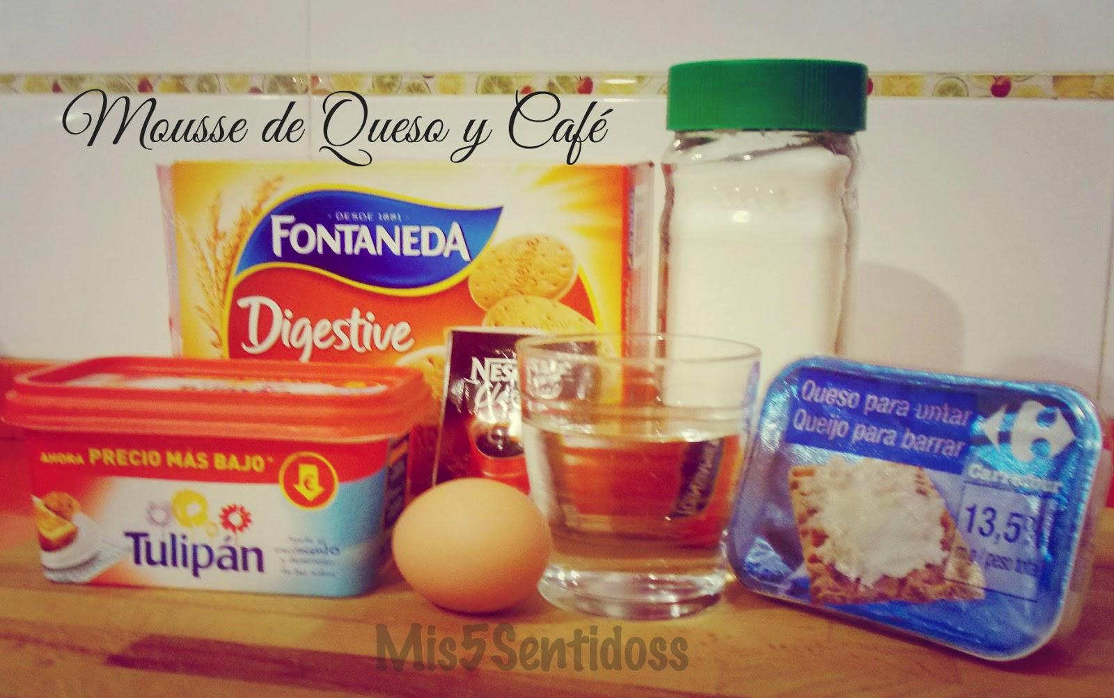 Mousse de queso y café