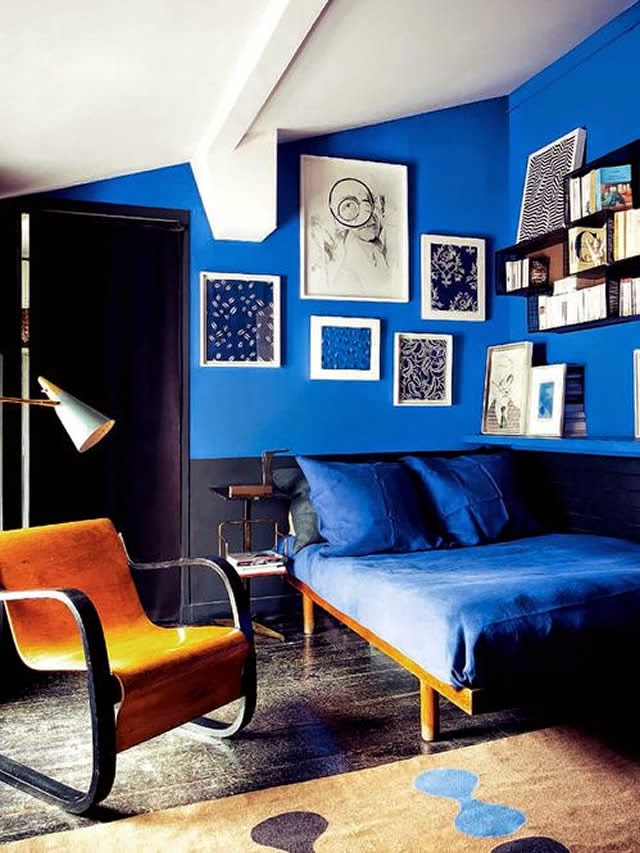 Royal Blue Bed Room