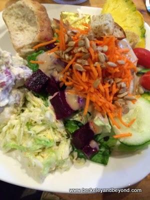 salad bar plate at Duke's Kauai, in Lihue, Kauai, Hawaii