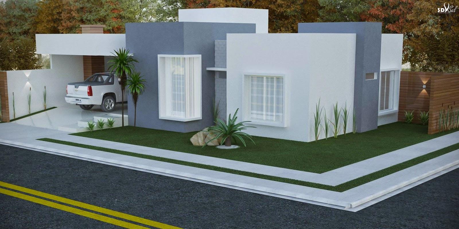 3dsul maquete eletr nica 3d projeto arquitetura for Casa moderna 4 ambientes