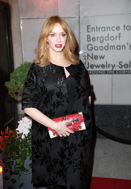 Actress, @ Christina Hendricks - The Bergdorf Goodman x Gemfields Jewelry Salon Opening Night Event in NYC