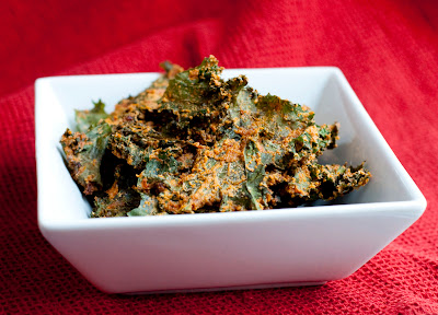 Tasty kale chips are great diet food and are paleo-friendly
