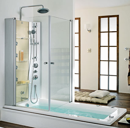 Furniture interior design the latest trend a tub shower for Salle de bain 8m2
