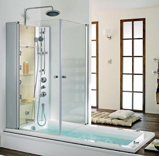 Furniture interior design the latest trend a tub shower - Baignoire douche design ...