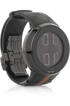 Gucci rubber and PVD watch