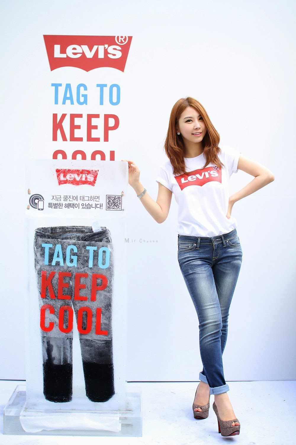 4 Lee Eun Yu - Levi's Promo - very cute asian girl-girlcute4u.blogspot.com