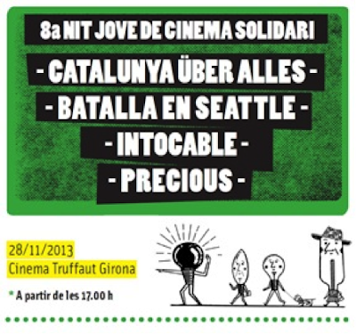 Cartell vuitena nit jove de cinema solidari. Girona. Cinema Truffaut.