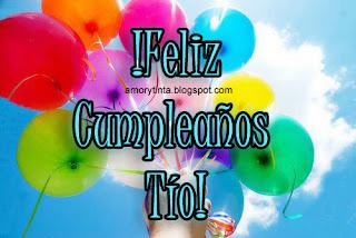 tarjeta de cumpleaños con globos tio