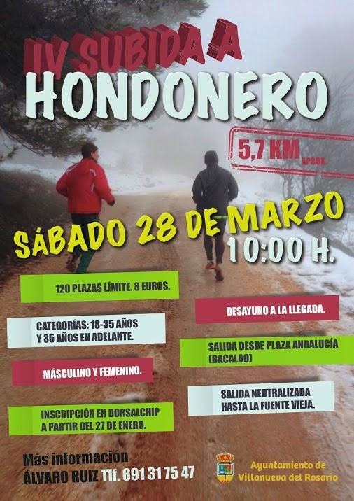 IV SUBIDA A HONDONERO