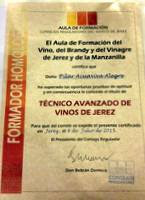 FORMADOR HOMOLOGADO DEL VINO DE JEREZ