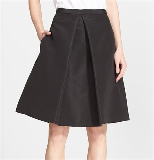 A line skirt design for women trend 2016/2017