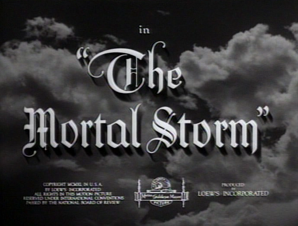 Veidt Club The Mortal Storm 1940