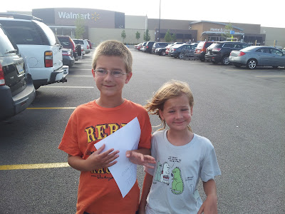 Ready to shop for donations at Walmart