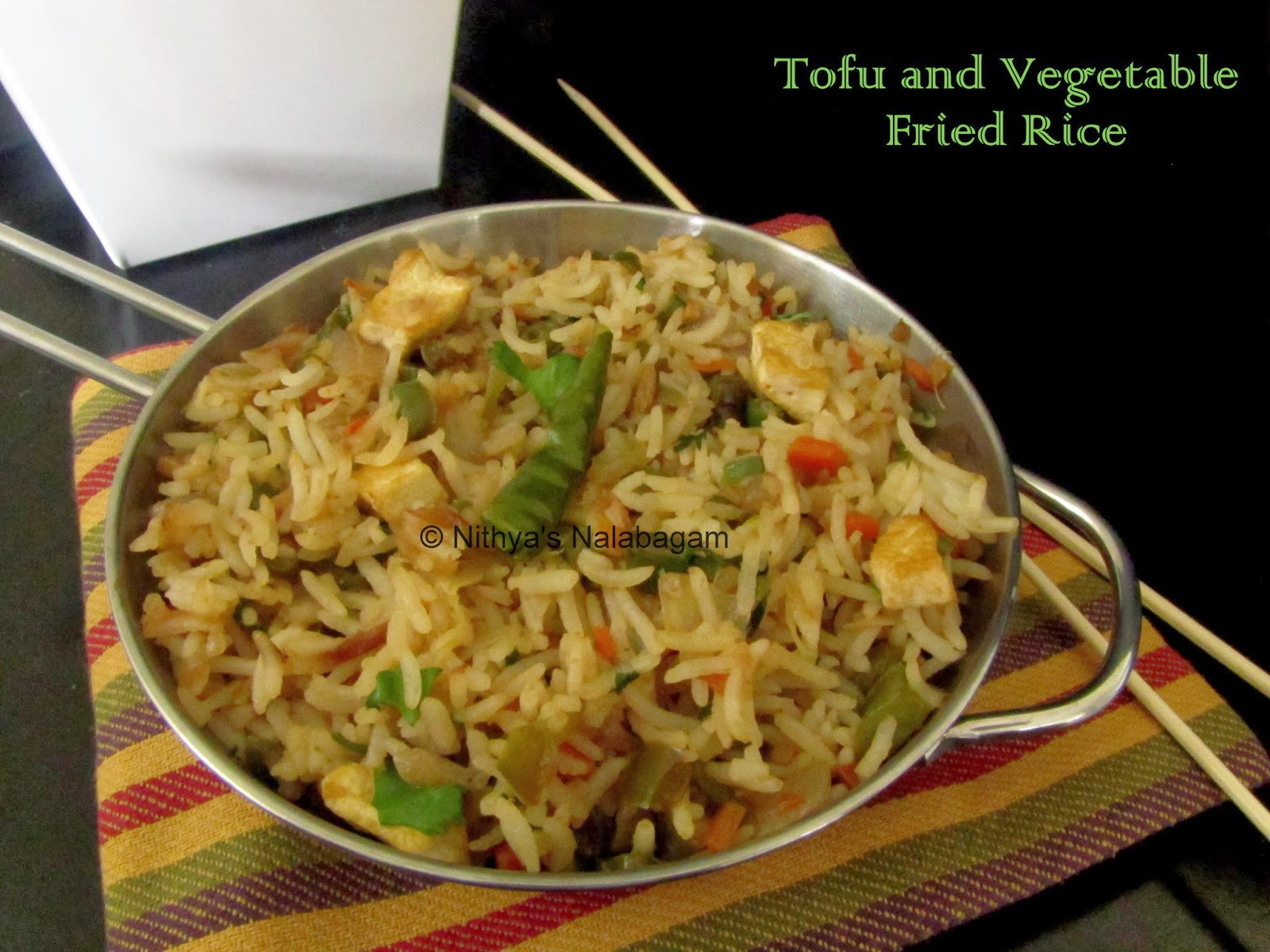 Tofu and Vegetable Fried Rice