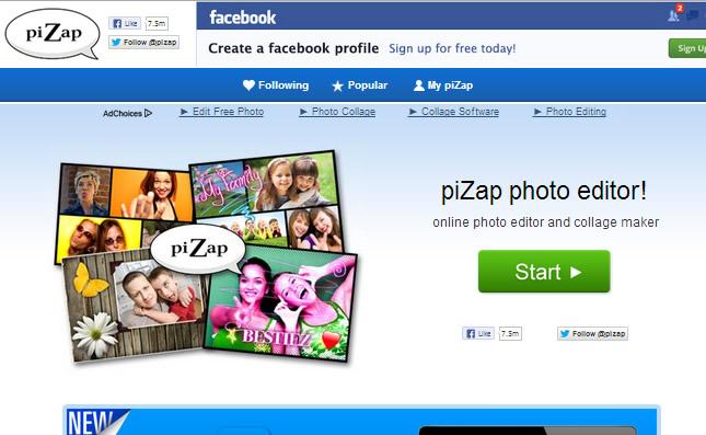 Photo Editor : Pizap