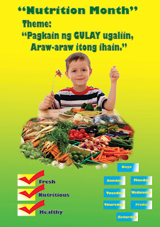2nd place electronic poster in Manay NHS Nutrition month celebration 2012