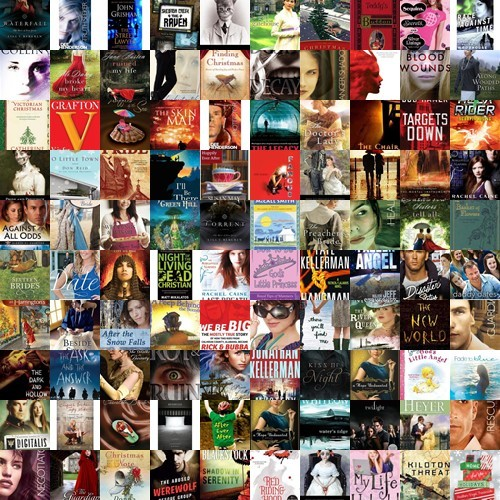 Book Cover Collage Example : My favorite pastime book collage of all books read in