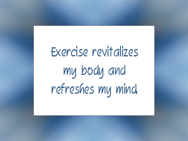 FITNESS affirmation